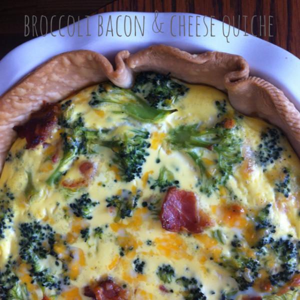 Broccoli Cheese and Bacon Quiche