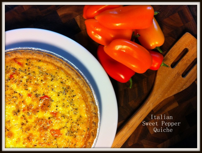 Italian Sweet Pepper Quiche