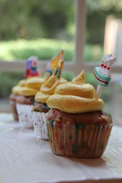 Homemade Funfetti Transportation Cupcakes
