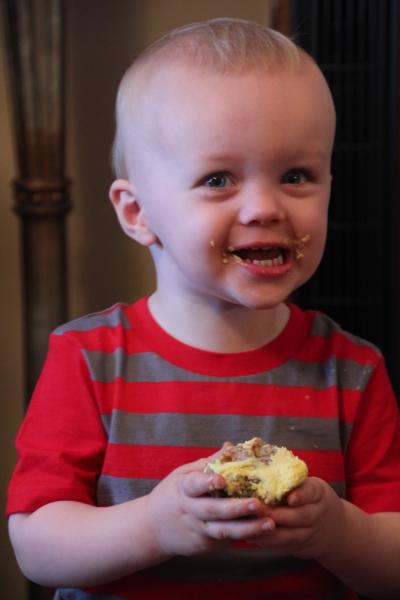 Elijah's Funfetti cupcake
